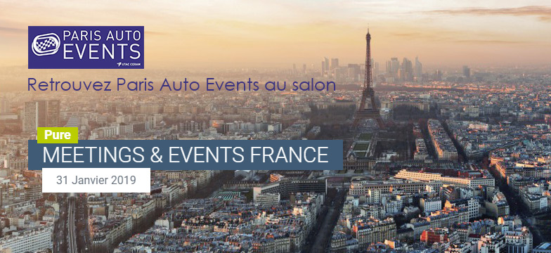 Paris Auto Events au salon Pure Meetings France le 31 janvier à Paris